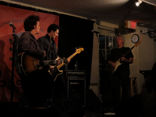 Willie Nile, Johnny 'Pie' Pisano, and Peter Hoffman