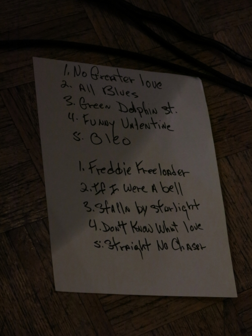 Set List for both Friday shows