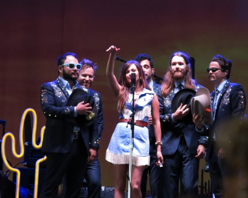 Kacey and her band