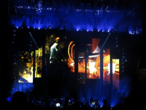 Video during 'Allentown'