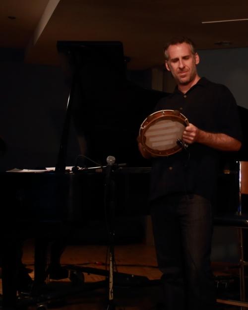 Scott Feiner on the pandeiro