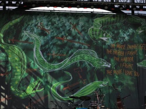 Neko Case's Stage Backdrop