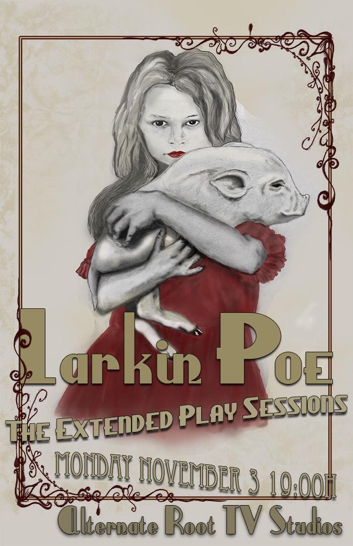 Image result for larkin poe concert poster