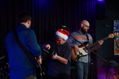 Santa Bill filming The Get Right Band