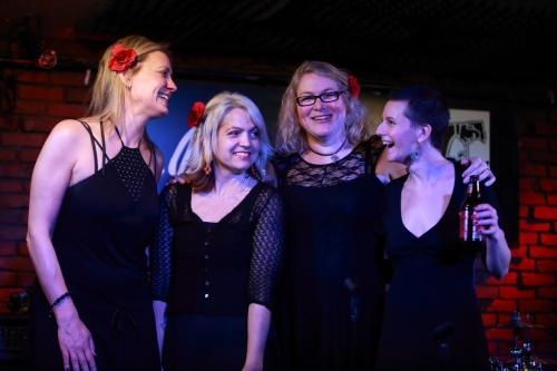 Amy Fairchild, Jenny Dee, Susan Cattaneo, Jenee Halstead (l to r)