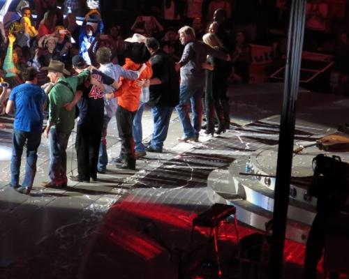 Garth Brooks and his band