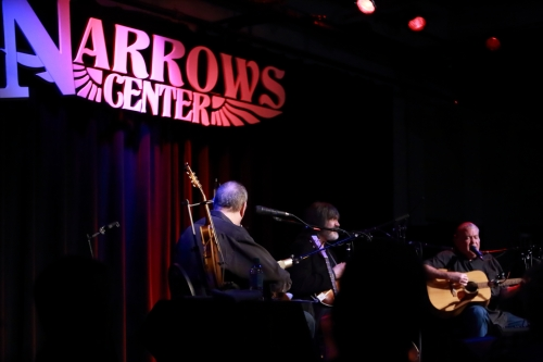 David Bromberg, Larry Campbell, David Hidalgo (l to r)