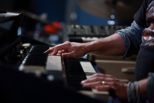 John Medeski's hands