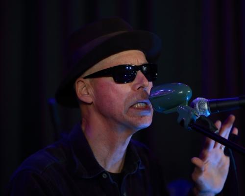 Markus James using his Argonne mic