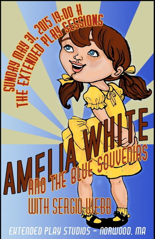 Amelia White and the Blue Souvenirs (Official Poster)