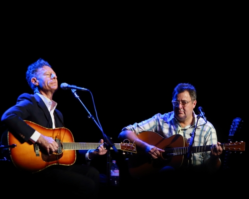 Lyle Lovett and Vince Gill