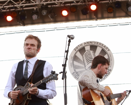 Chris Eldridge and Chris Thile of Punch Brothers
