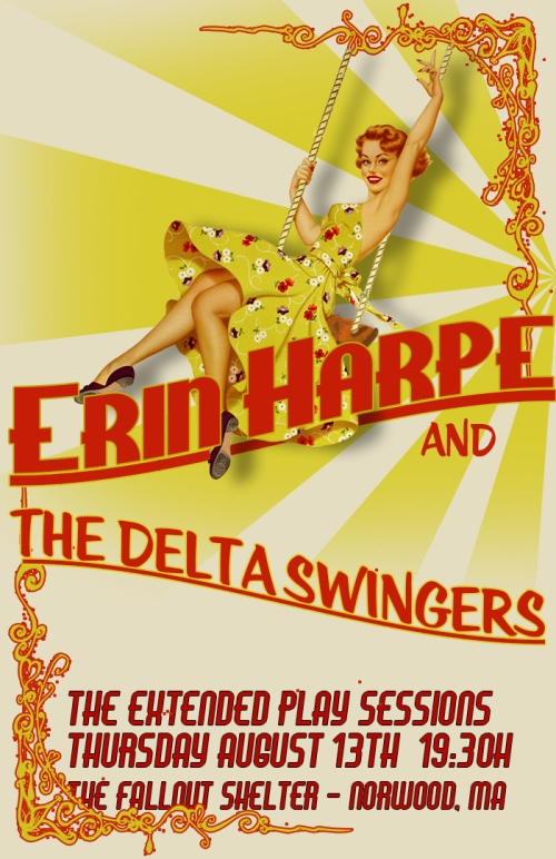 Erin Harpe and The Delta Swingers (Official Poster)