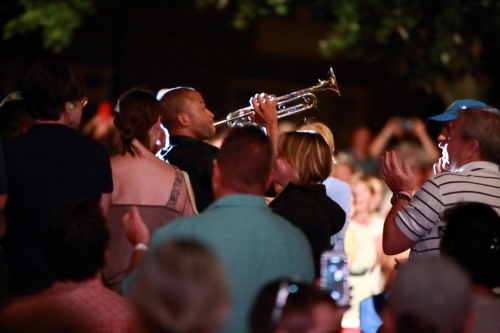 Trombone Shorty (in the audience during the encore)