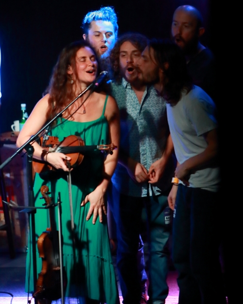 Bridget Law with members of Parsonsfield