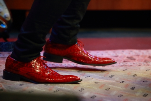 Roberto Morbioli's red shoes!