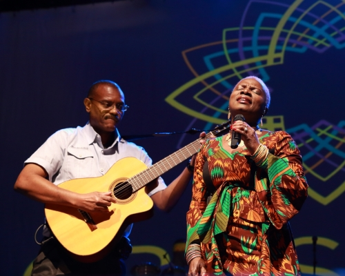 Dominic James and Angélique Kidjo