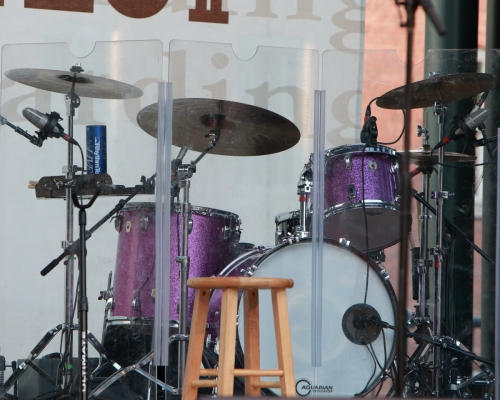 Nate Barnes' purple drum kit (I could not get a shot of him, unfortunately)