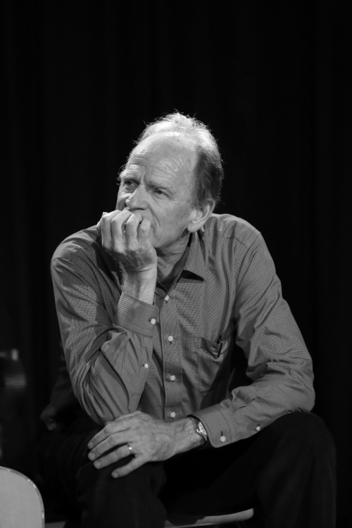 Livingston Taylor listening intently to Matt Cusson